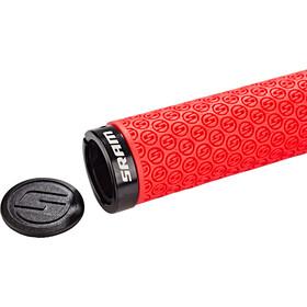 SRAM DH silikonikahvat sis. ruuvivarmistuksen, red